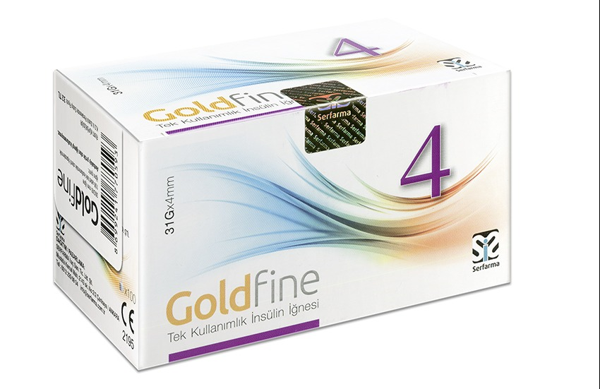 GOLDFİNE İNSÜLİN İĞNESİ 4 MM